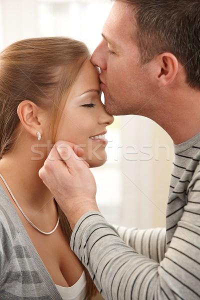 Kiss on forehead