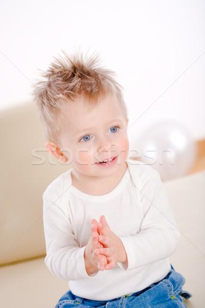 Baby boy clapping Stock photo © nyul