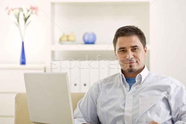 Casual man working at home Stock photo © nyul
