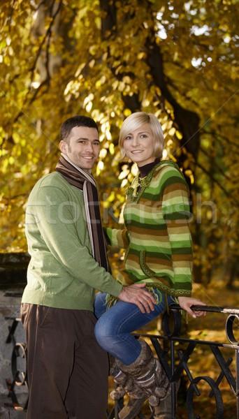 Loving couple in park Stock photo © nyul