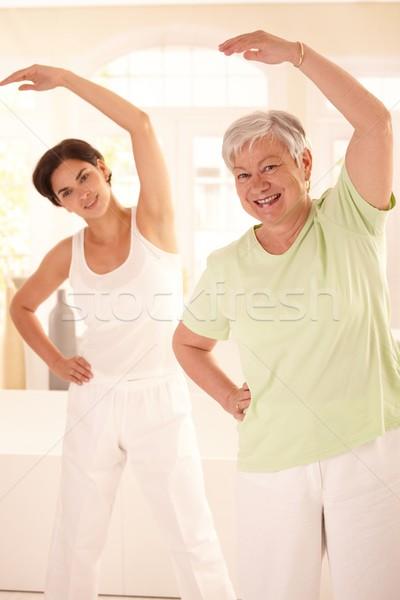 Persoonlijke fitness gezonde personal trainer Stockfoto © nyul