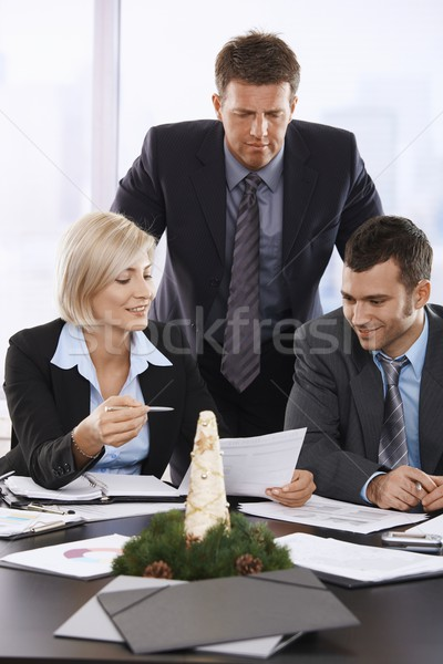 Business meeting december Stock photo © nyul