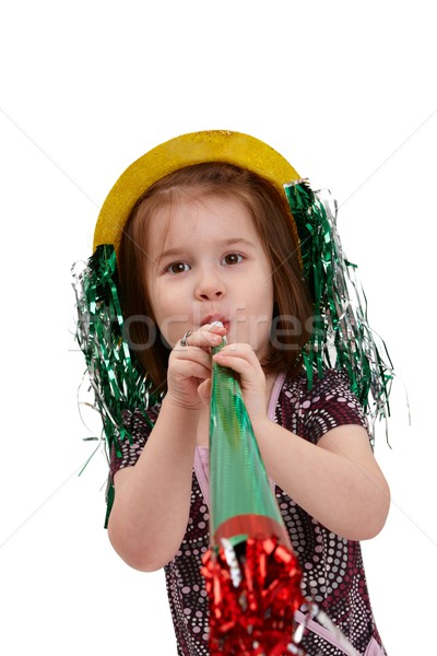 Cute small girl on new year's eve Stock photo © nyul