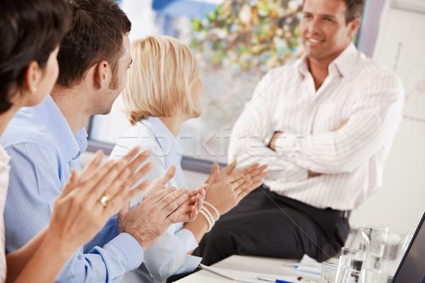 Foto stock: Negócio · apresentação · pessoas · de · negócios · escritório