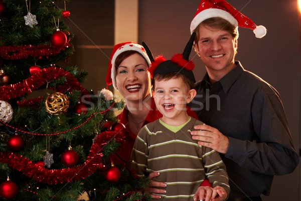 Happy family at christmas Stock photo © nyul