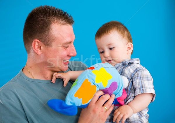 Father carrying happy baby  Stock photo © nyul