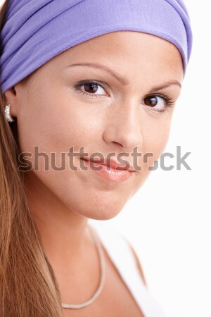 Stock photo: Portrait of attractive young female smiling