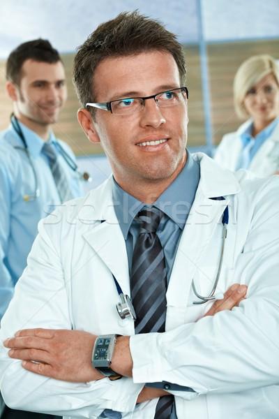 Stok fotoğraf: Doktor · hastane · koridor · tıbbi · takım