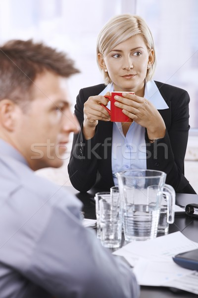 Businesswoman with coffee mug Stock photo © nyul