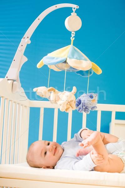 Bebé meses edad feliz nino Foto stock © nyul