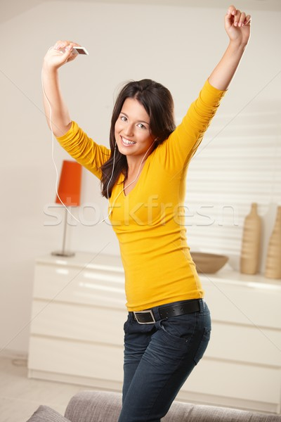 Menina feliz posando feliz menina adolescente dança Foto stock © nyul