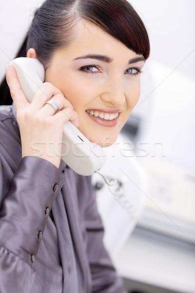 Businesswoman talking on phone Stock photo © nyul