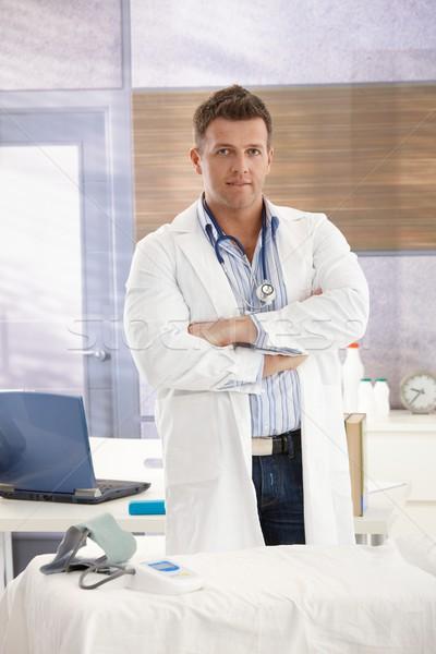Arzt Büro stehen Beratung Arme Stock foto © nyul
