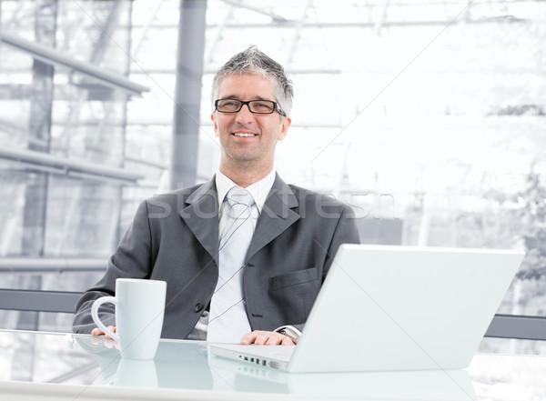 Businessman at desk Stock photo © nyul