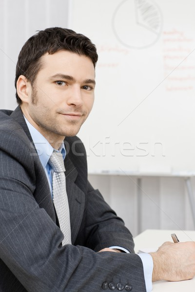 Businessman working at desk Stock photo © nyul