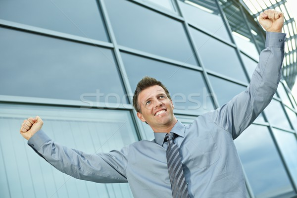 Happy successful businessman Stock photo © nyul