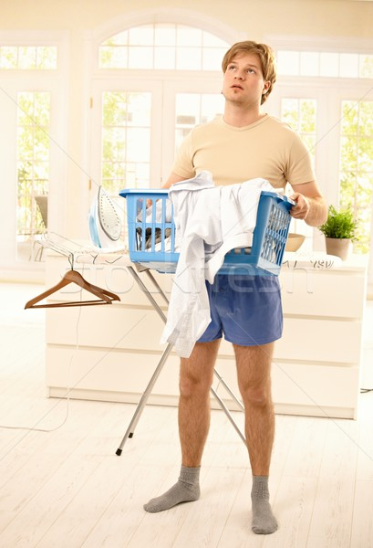Guy fed up with housework Stock photo © nyul