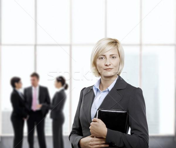 Kobieta interesu biuro stałego osobowych organizator lobby Zdjęcia stock © nyul