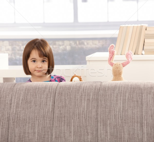 Cute little girl and toys Stock photo © nyul