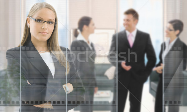 Businesswoman in office Stock photo © nyul