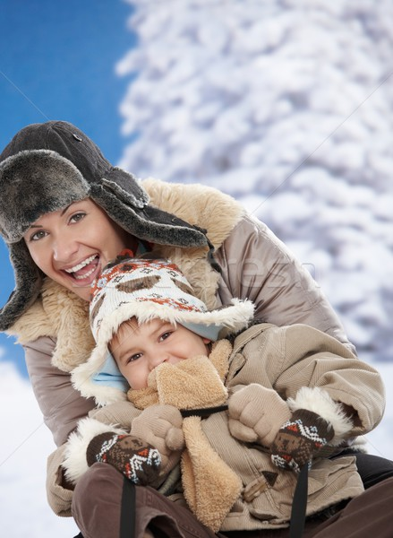 Mother and child at winter Stock photo © nyul