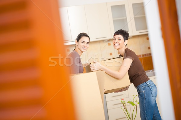 Women moving to new home Stock photo © nyul