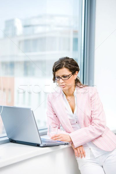 Businesswoman browsing internet Stock photo © nyul