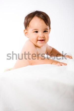 Feliz bebé sonriendo cute familia ninos Foto stock © nyul