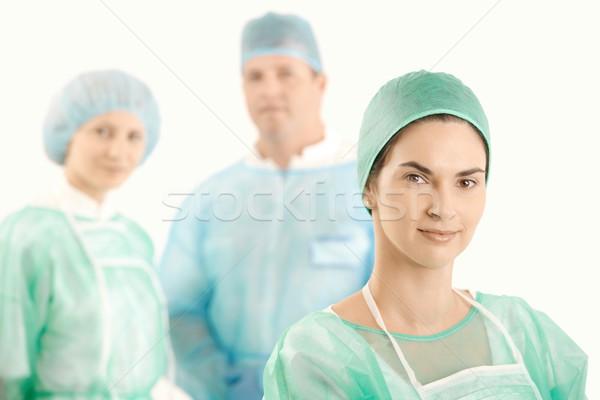 Medici equipaggio uniforme sorridere medico Foto d'archivio © nyul