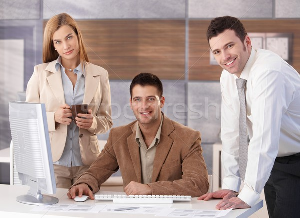 Portrait of happy businessteam Stock photo © nyul