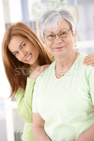 Senior mother and daughter smiling Stock photo © nyul