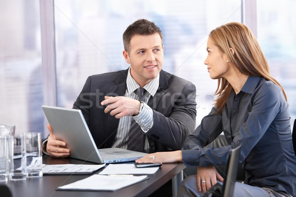 Young businesspeople negotiating Stock photo © nyul