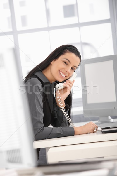 Laughing office worker Stock photo © nyul