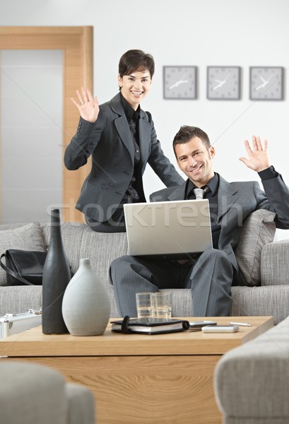 Businesspeople greeting partner Stock photo © nyul