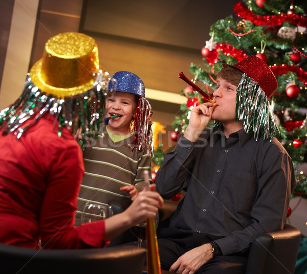 Family celebrating new year Stock photo © nyul