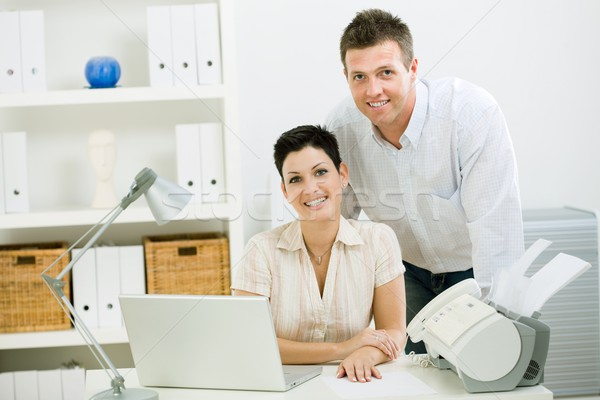 Couple working at home Stock photo © nyul