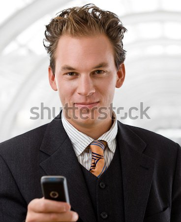 Portret zakenman gelukkig glimlachend witte glimlach Stockfoto © nyul