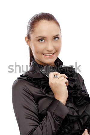 Happy businesswoman Stock photo © nyul