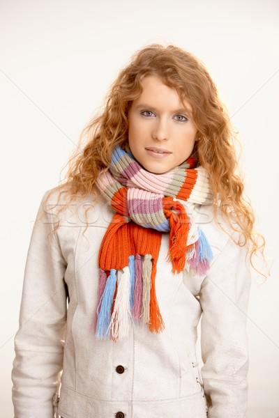 Attractive female dressed up warm Stock photo © nyul