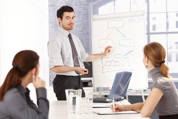 Young team having business training Stock photo © nyul