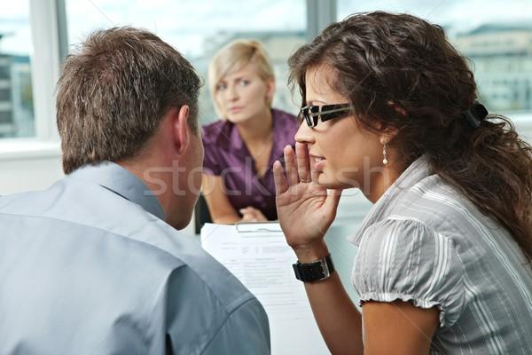 Entrevista de emprego questionário forma ombro ver Foto stock © nyul