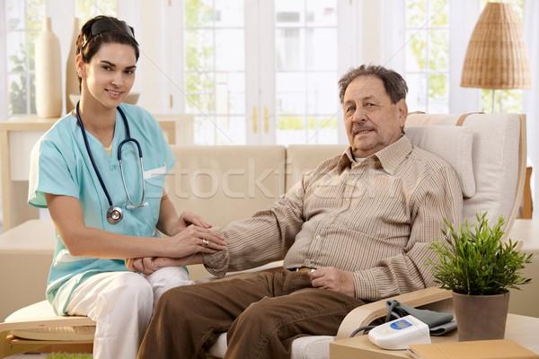 Photo stock: Santé · maison · infirmière · supérieurs