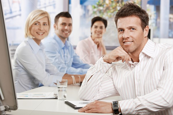 Businessman in meeting room Stock photo © nyul