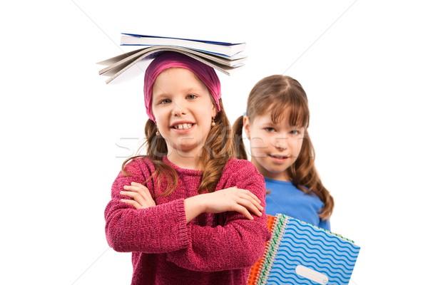 Schoolchildren with workbooks Stock photo © nyul