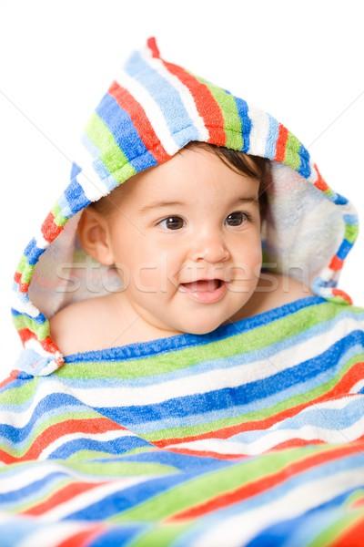 Gelukkig baby kleuren portret maanden oude Stockfoto © nyul