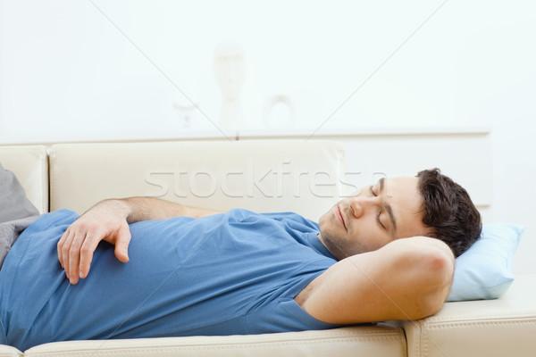 Man sleeping on couch Stock photo © nyul