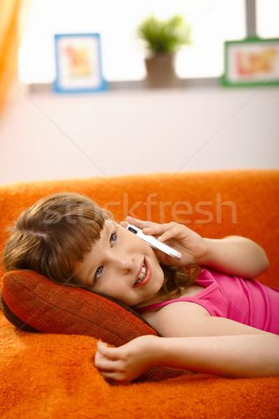 Schoolgirl on phone call Stock photo © nyul