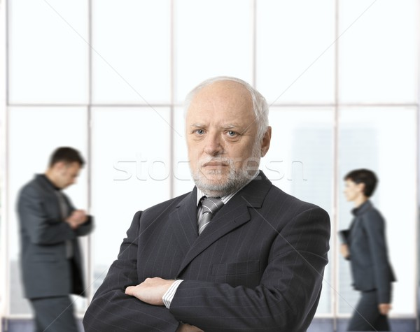 Severe senior businessman Stock photo © nyul