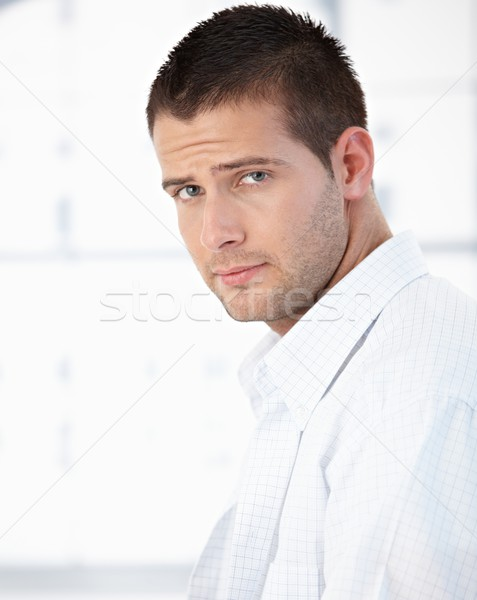 Morning portrait of handsome man in shirt Stock photo © nyul