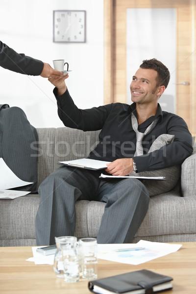 Moe zakenman kantoor mensen kantoor zakenvrouw Stockfoto © nyul